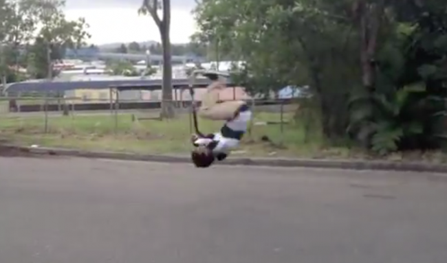 Good Morning, Here's A Guy Pulling Off A Scooter Front Flip (Video)