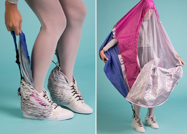 These Sneakers Have A Built-in Tent