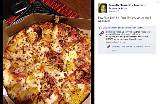 Domino's Apologizes After Customer Compliments Their Pizza