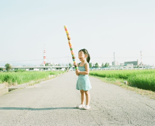 Cute Little Girl in Imaginative Settings