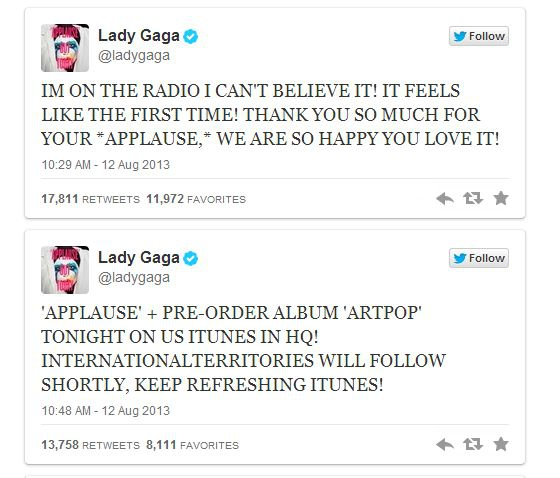 Lady Gaga Releases 'Applause' Single Early [AUDIO]
