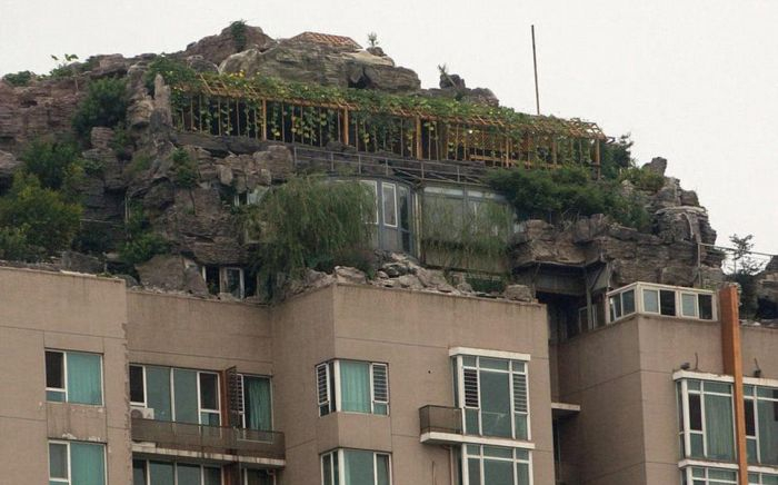 Mountain Villa on Top of Apartment Block