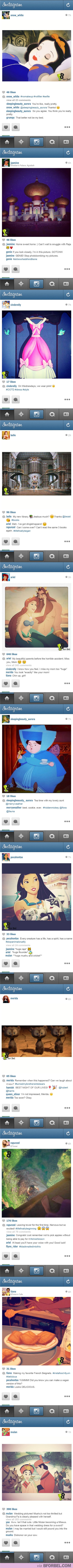 If Disney Princesses Had Instagram