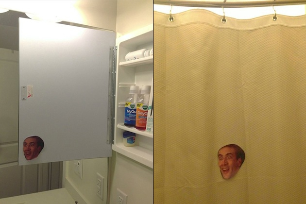Guy Housesitting For Friend Pranks Him With Nicholas Cage Photos artistic, awesome, comedy, funny, funny-crazy-wtf-people, interesting, music, random, silly, weird