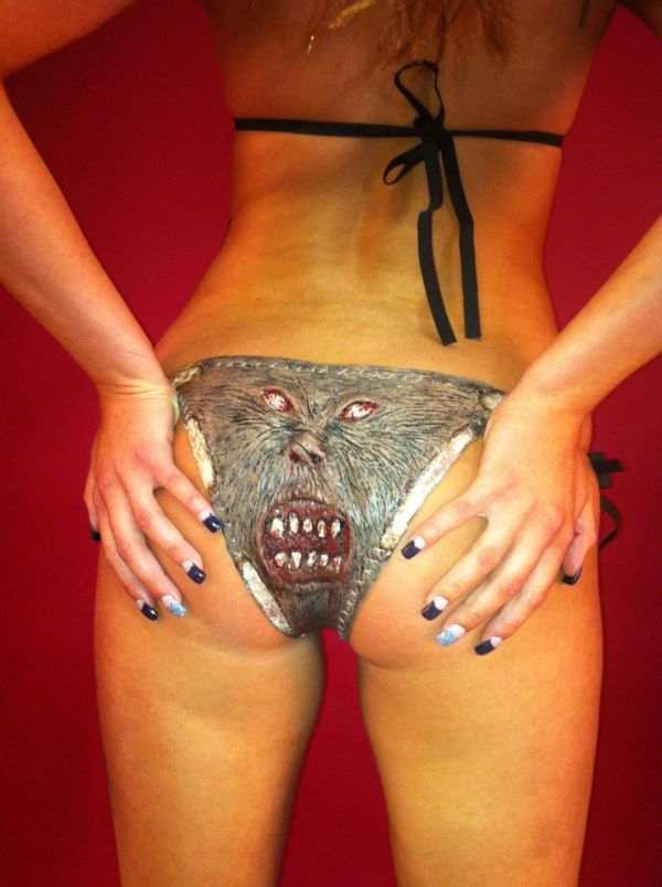 "The Necronomicon Bikini  ""bikini"", bloodlust, necromonicon, scary, silicon, strange, weird"