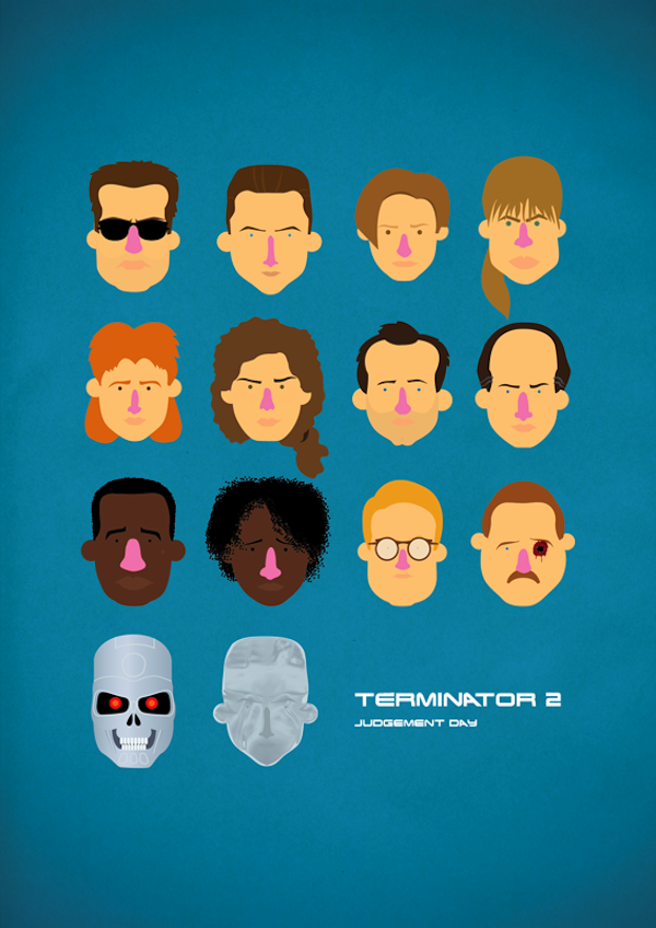 "Playful Minimalist Posters Depict Classic Movie Characters  ""poster"", art, minimalist-movie-posters, movie, olaf-cuadras, playful"