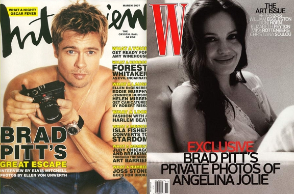 Brad Pitt's Intimate Photos Of Angie.