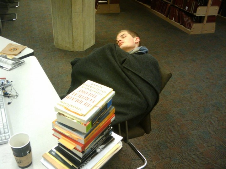 Funny Photos of People Caught Sleeping in Libraries george-oates, people-sleeping-in-libraries, photo