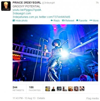 "Prince Joins Twitter, Releases Preview of New Song ""Groovy Potential"""
