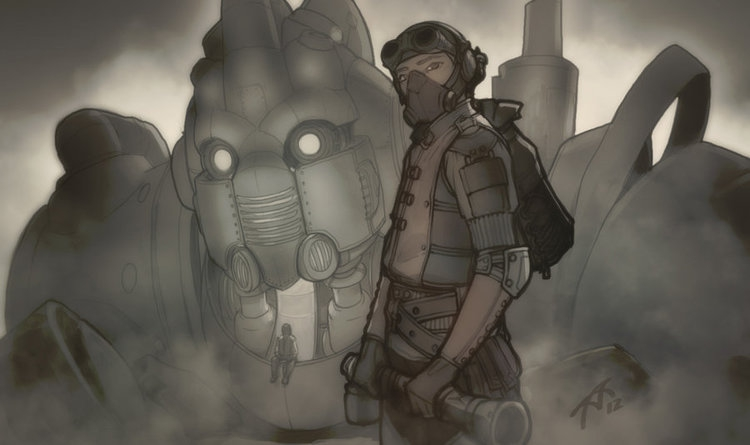 Cool Steampunk Inspired Robot Fantasy Art art, awesome, featured, inspirational, interesting, new, vivid