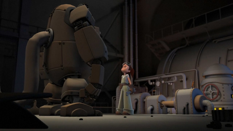 Charming Animated Short About a Girl and Her Robot  artistic, awesome, cool, funny, random, silly, sweet, weird