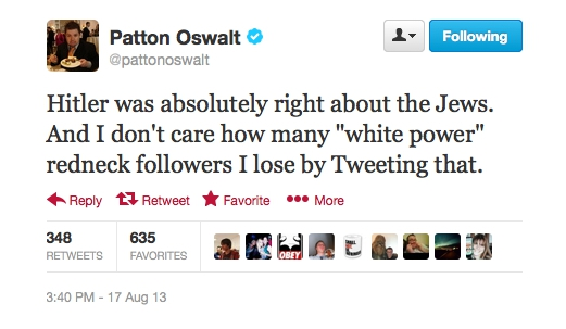 Patton Oswalt Trolled Twitter With Two-Part Political Tweets