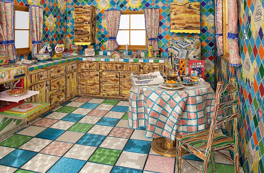 Artist Covered Entire Kitchen in Millions of Glass Beads