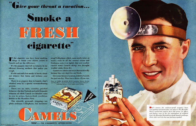 Misleading Vintage Ads Promoting The Benefits Of Smoking advertising, featured, illustration, lung-cancer, smoking, tobacco