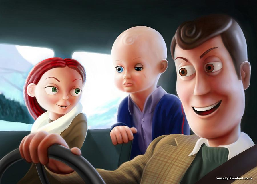 Toy Story Meets The Shining artist, cool, horror, hotel, kyle-lambert, murder, pixar, shining, stanley-kubrick, toy-story