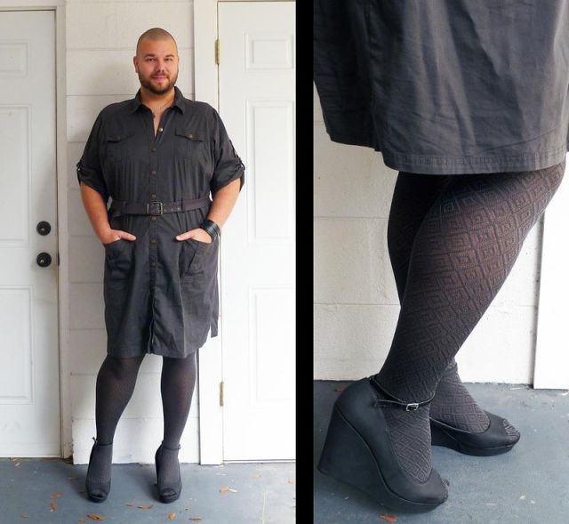 This Guy Has a Very Unusual Choice in Fashion