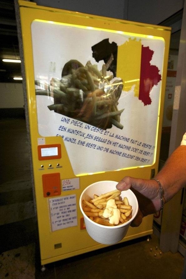 French Fry Vending Machine  belgium, food, french-fry, idea, vending-machine