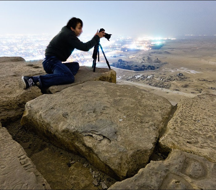 Awesomely Illegal Photos from Atop Egypt's Great Pyramid [pics]