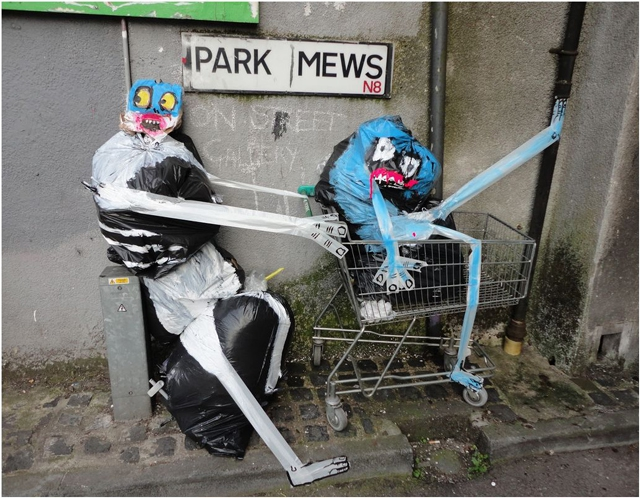 "Street Artist Turns Found Garbage Into Quirky Characters ""Francisco de Pájaro"", ""london"", art, art-is-trash, artist, garbage, humorous, street"
