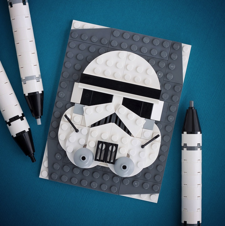LEGO Pop-Culture Portraits by Chris McVeigh