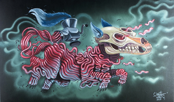 Pulling the world apart, one animal at a time anatomy, animal, apart, art, artist, nychos, street