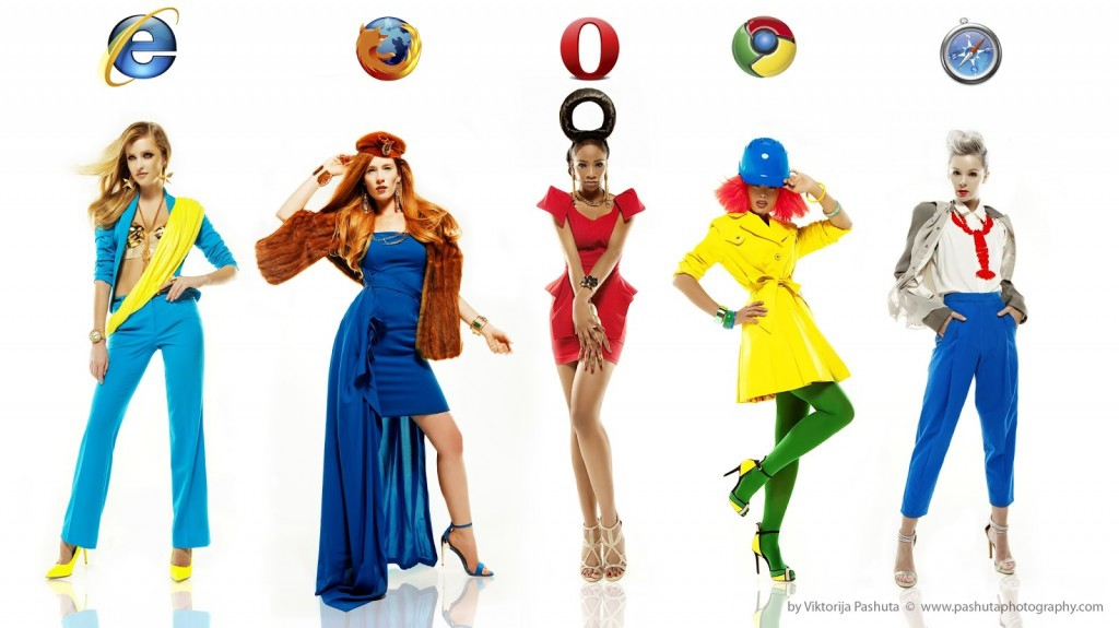 Internet Browsers Transformed Into Fashion Models