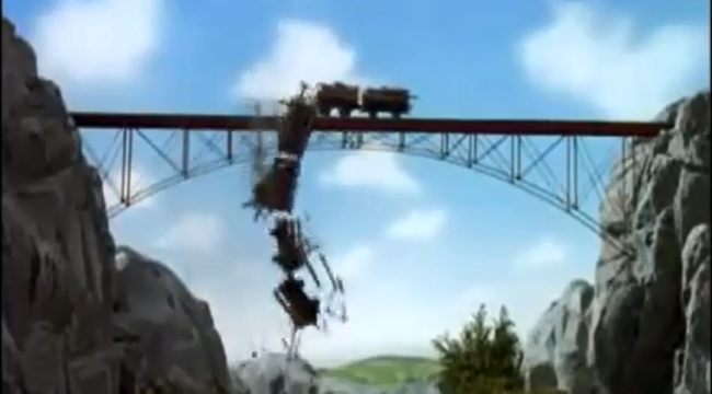 A Supercut Of 'Thomas The Tank Engine' Crashes Set To 'Bodies'