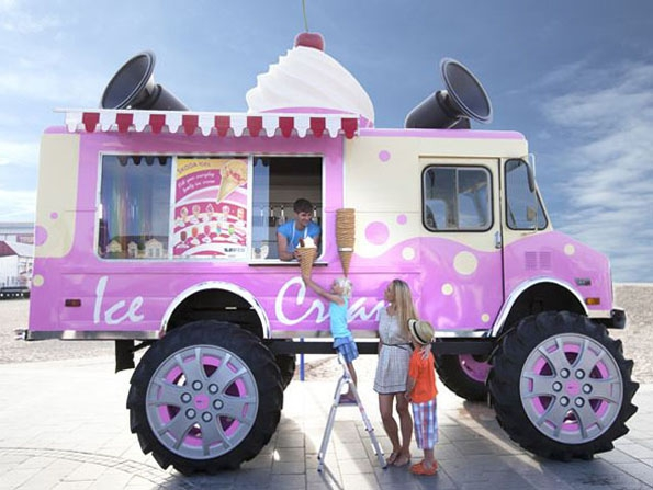 Ice Cream Monster Truck cool, ic-cram, idea, interesting, monster-truck, skoda