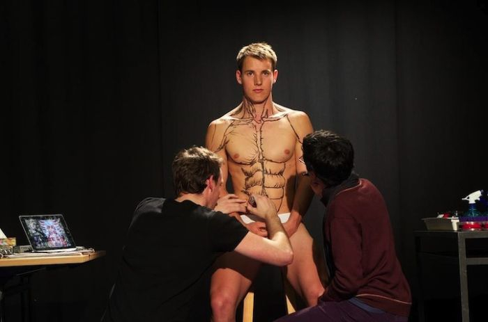 "Students Painting a Live Body  ""student"", body, cool, institutem-anatomy, live, royal-melbourne"