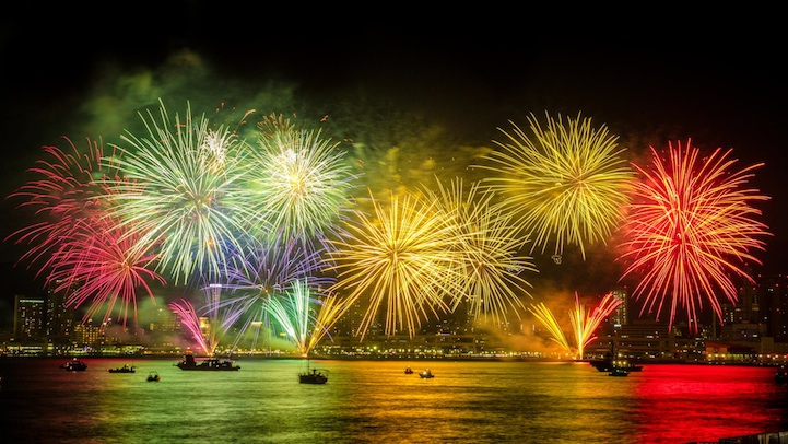 Spectacular Shots of Japan's Summertime Fireworks Festivals