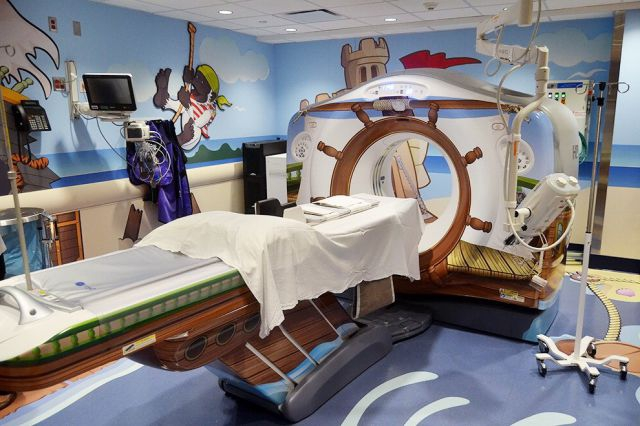 A Playful Pirate-Themed CT Scanner for Kids