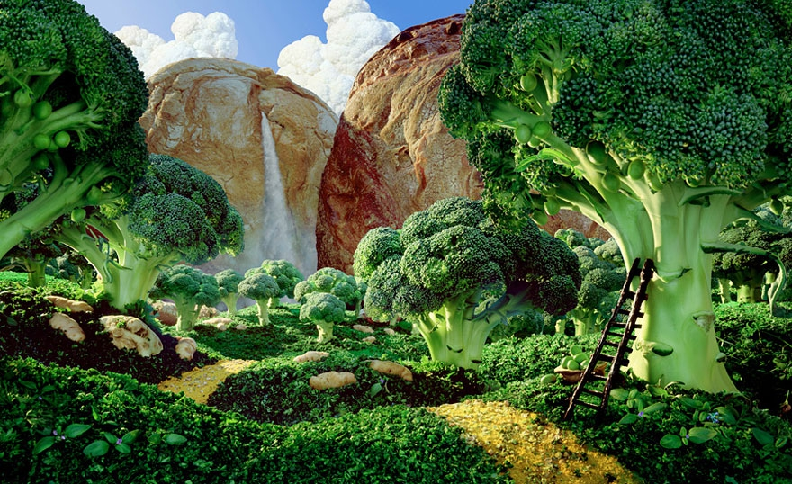 Foodscapes: Stunning Landscapes Made of Food by Carl Warner carl-warner, food, food-art, food-landscapes, food-miniatures, food-photography, food-sculptures, foodscapes, full-page, landscapes, photography