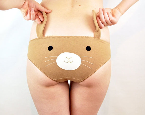Animal Panties With Ears  animal, cool, ears, panties, strange, weird