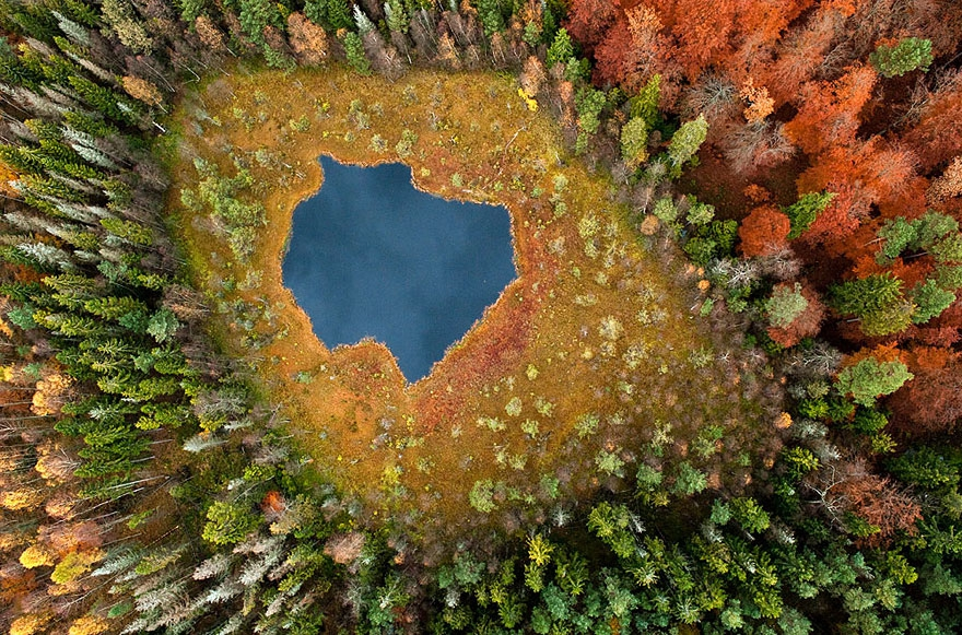 Stunning Aerial Photos of Poland's Lakes Throughout The Seasons Poland's lakes, aerial, aerial-photography, full-page, kacper-kowalski, lakes-of-poland, landscape-photography, poland