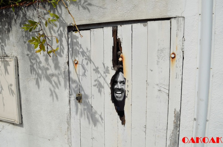 More Cleverly Placed Street Art by OakOak