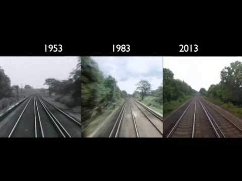 London to Brighton Train Journey: 1953, 1983, 2013