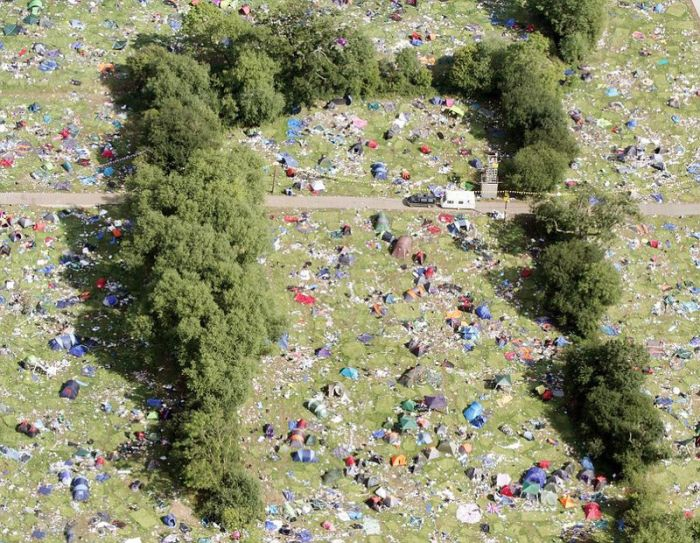"Aftermath of a Music Festival  ""festival"", aftermath, garbage, music, reading, tent, uk, visitors"