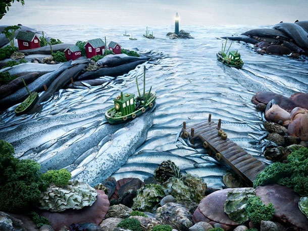 16 Outstanding Fantasy Landscapes Created From Food artistic, funny-crazy-wtf-people, interesting, music, random, silly, weird