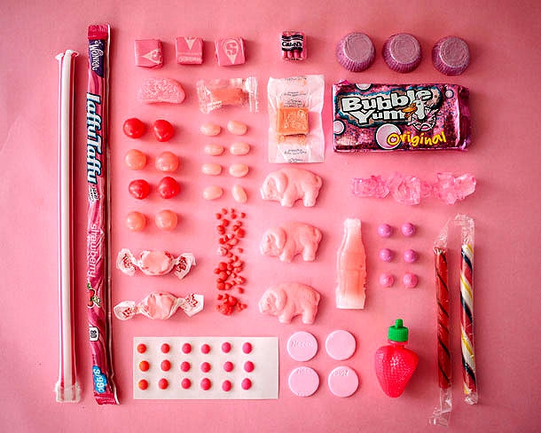 Delicious Confectionery Beautifully Organized By Color