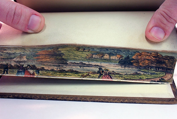Hidden 19th Century Fore-Edge Paintings Found on the Pages of a Book