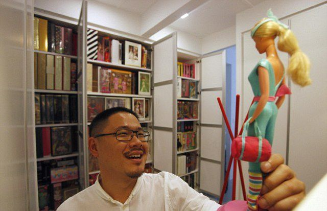 You Won't Guess What This Man Loves Collecting… collection, dolls, jian-yang, singapore