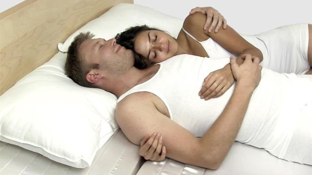 A Mattress With Foam Indents to Make Cuddling More Comfortable