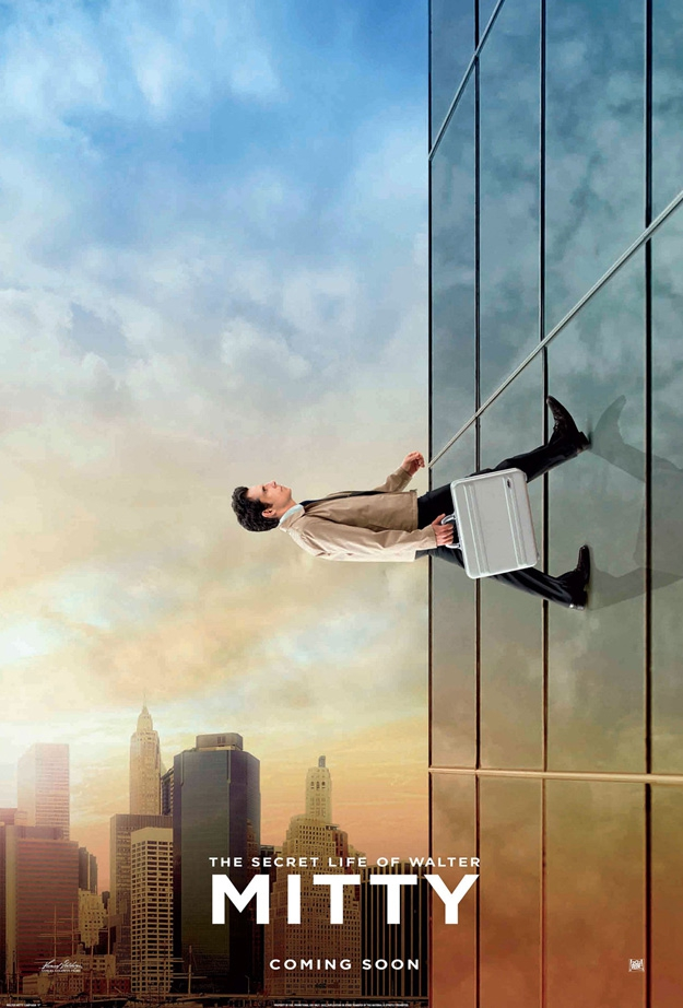Moon and Building Walking Posters for THE SECRET LIFE OF WALTER MITTY