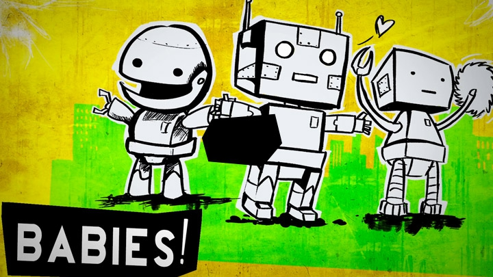 GIANT. ROBOT. BABIES! Punk Rock Music Video  artistic, funny-crazy-wtf-people, interesting, music, random, silly, weird