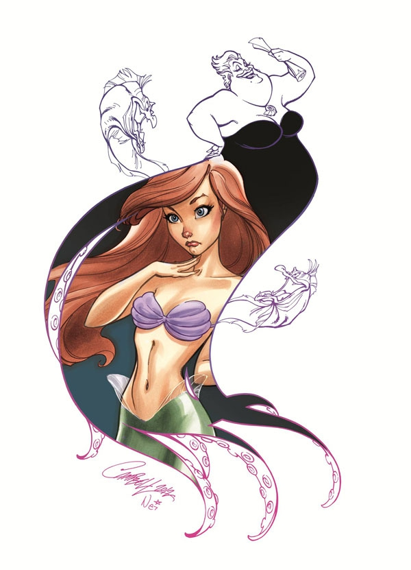Disney Princess and Villain Art Series by J. Scott Campbell