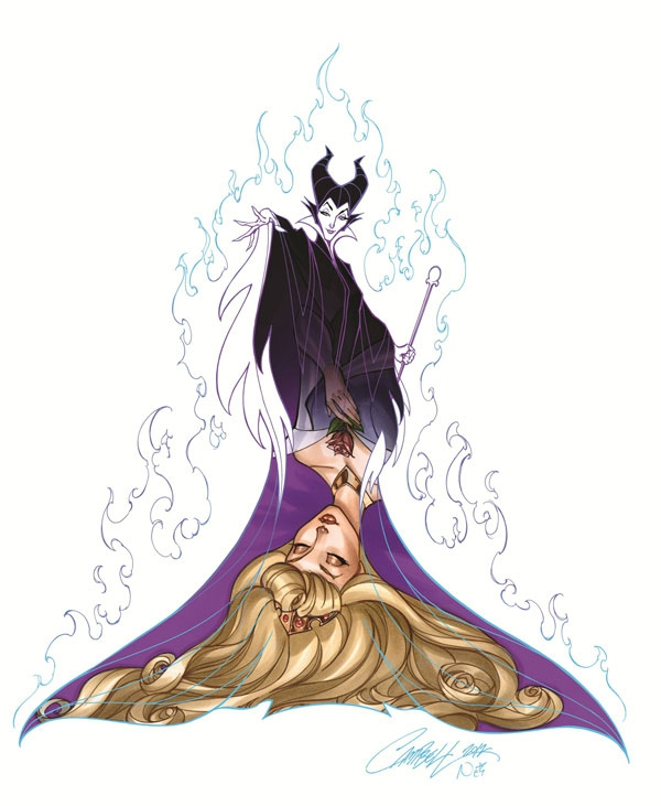 Disney Princess and Villain Art Series by J. Scott Campbell  artistic, awesome, clever, cool, crazy, funny, random, rocks, silly, sweet