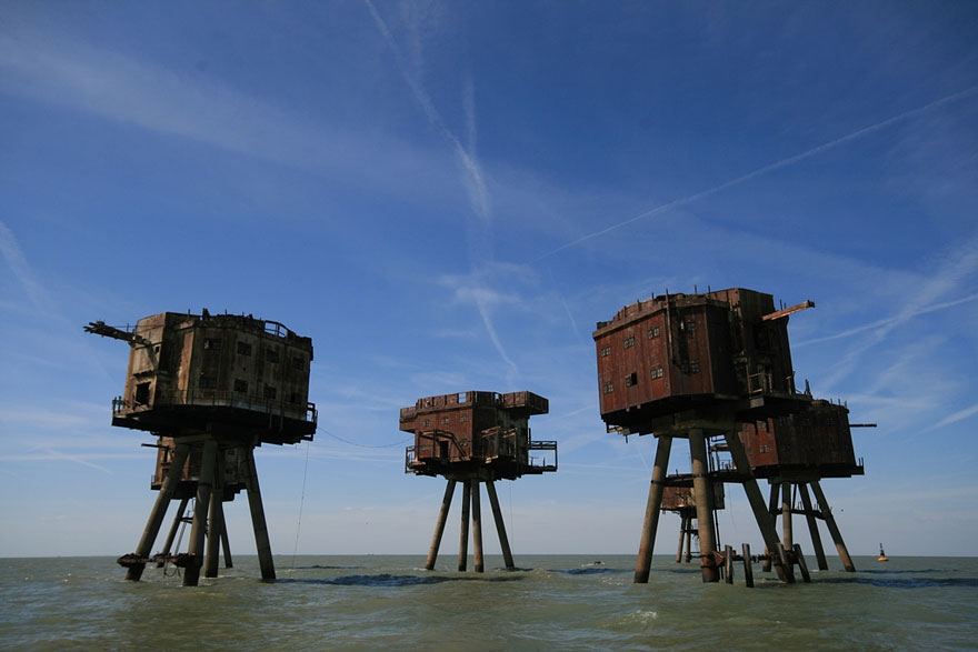 4. The Maunsell Sea Forts, England abandoned-buildings, abandoned-cities, abandoned-places, abandoned-structures, creepy, full-page, ghost-towns, haunted, urban-exploration, urban-photography