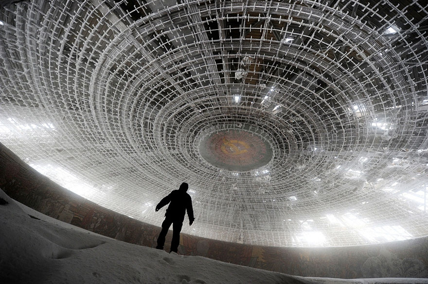 7. House of the Bulgarian Communist Party, Bulgaria abandoned-buildings, abandoned-cities, abandoned-places, abandoned-structures, creepy, full-page, ghost-towns, haunted, urban-exploration, urban-photography