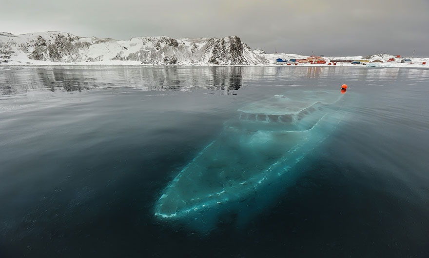 12. Sunken Yacht, Antarctica abandoned-buildings, abandoned-cities, abandoned-places, abandoned-structures, creepy, full-page, ghost-towns, haunted, urban-exploration, urban-photography