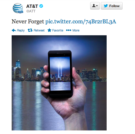 AT&T Catches Heat For Tacky 9/11 Ad